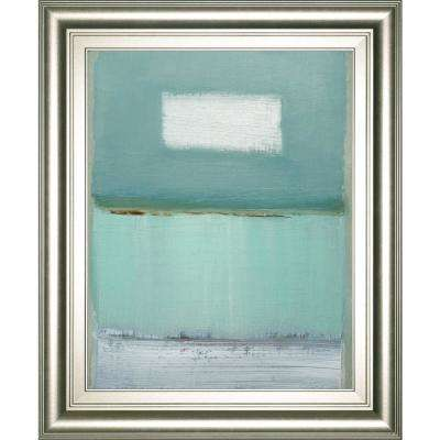 "22 in. x 26 in. ""Azure 1"" by Caroline Gold Framed Printed Wall Art"