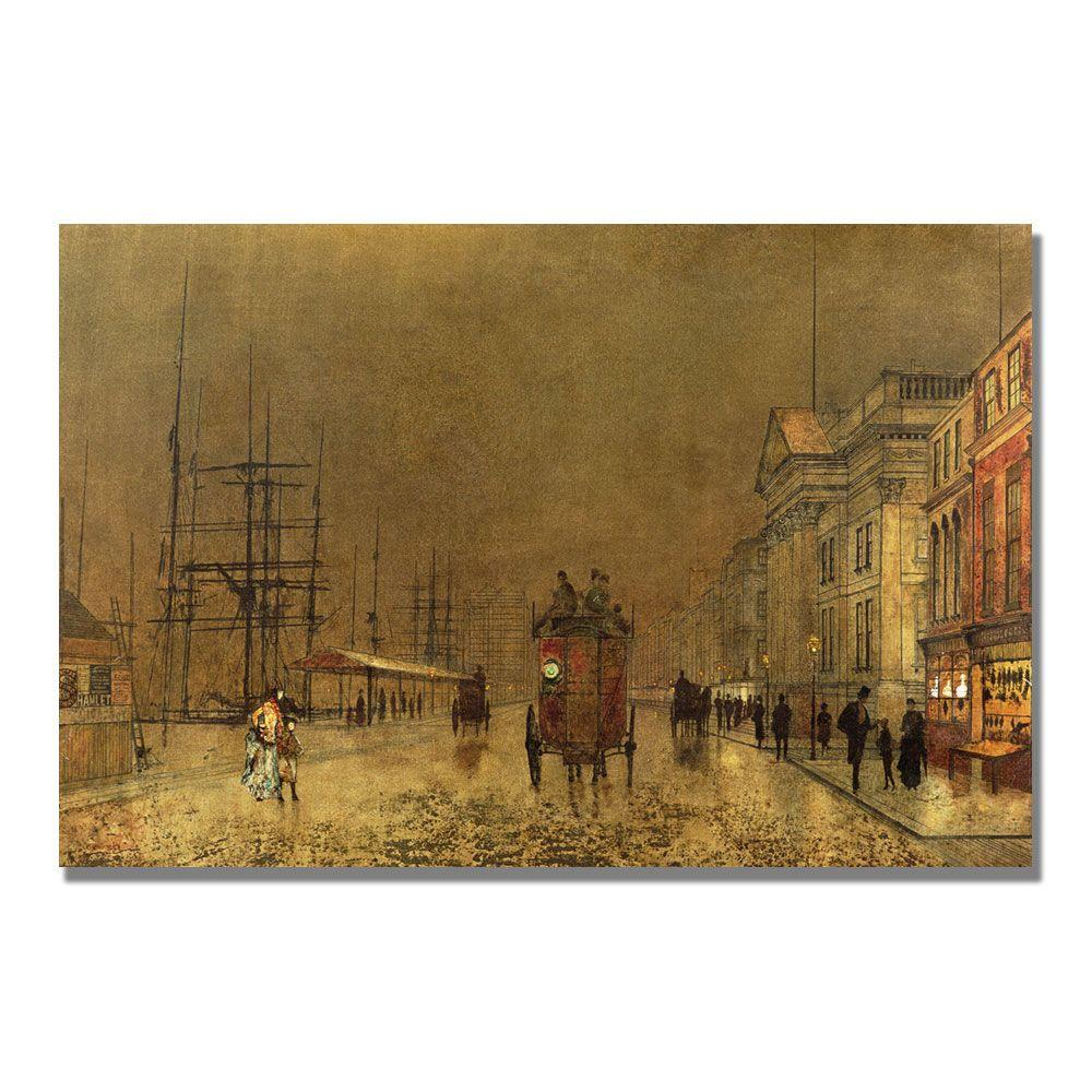 22 in. x 32 in. A Liverpool Street Canvas Art