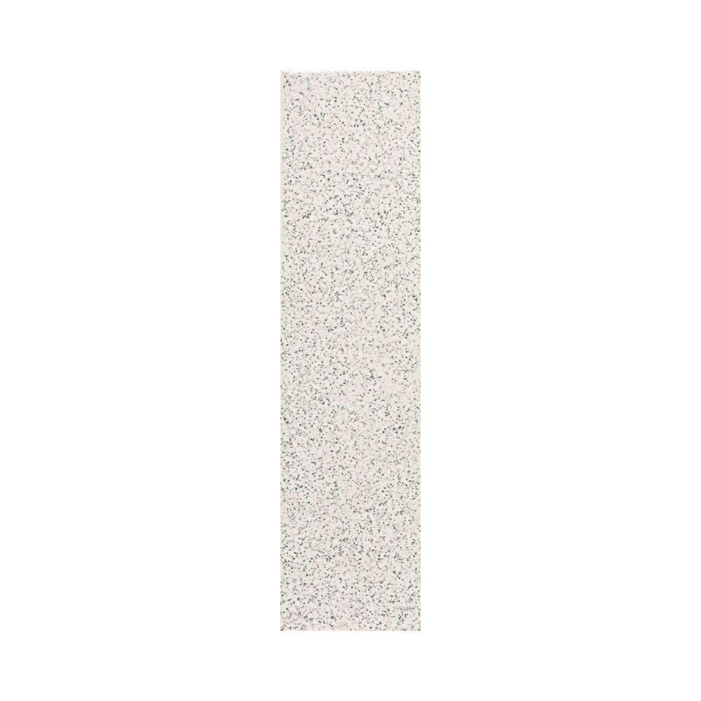 Daltile Colour Scheme Arctic White Speckled 1 in. x 6 in. Porcelain Cove Base Corner Trim Floor and Wall Tile
