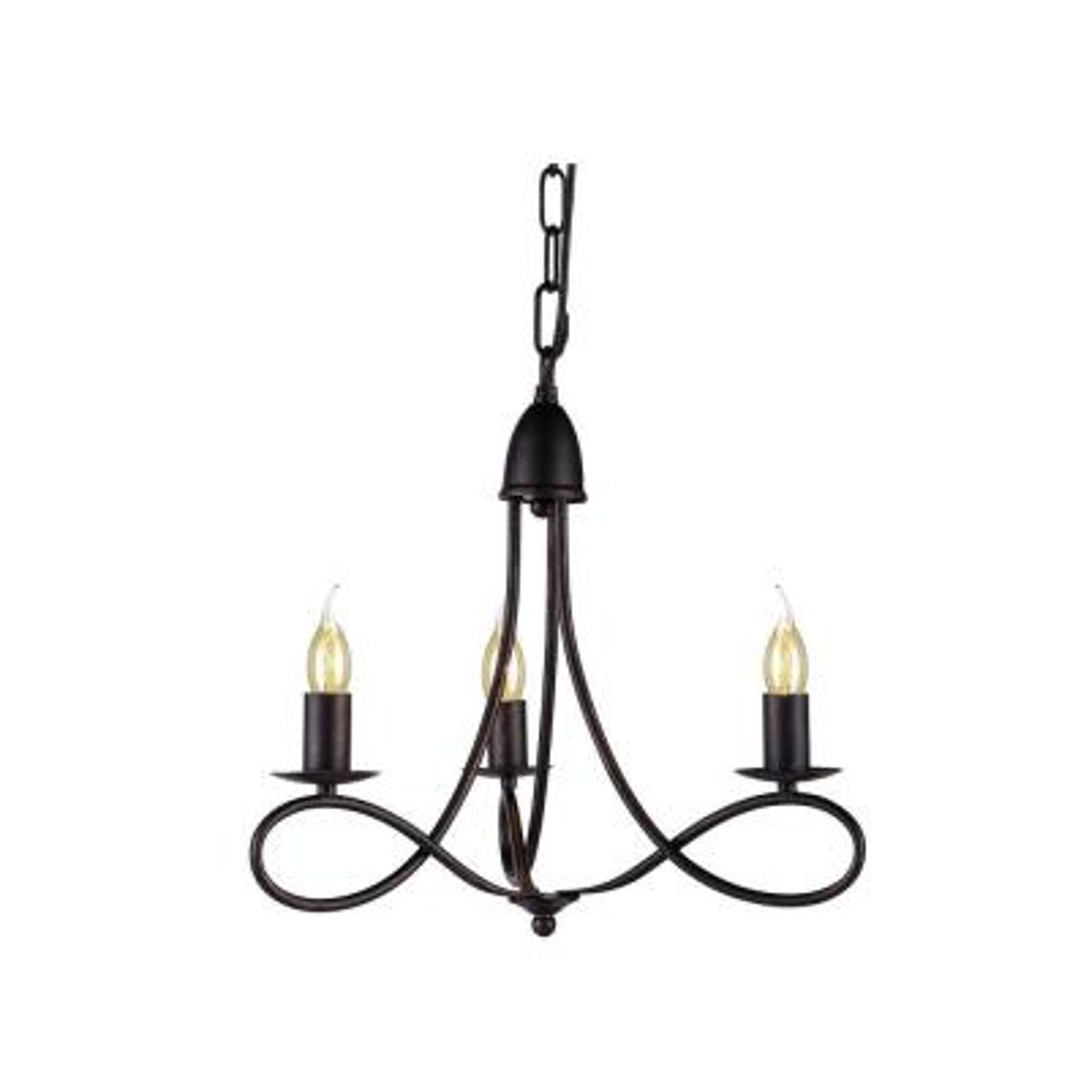 Lyndon 3-Light Dark Bronze Pendant Lamp