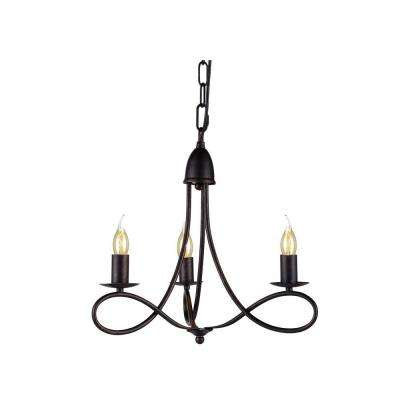 Lyndon 3-Light Dark Bronze Pendant Lamp