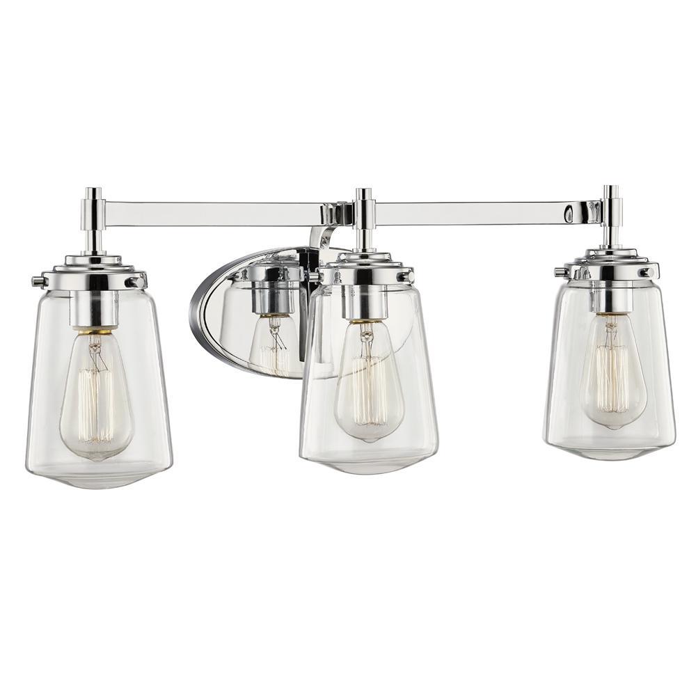 Linville 3-Light Polished Chrome Bath Light