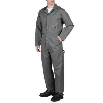 Men Large Deluxe Blended Gray Coveralls