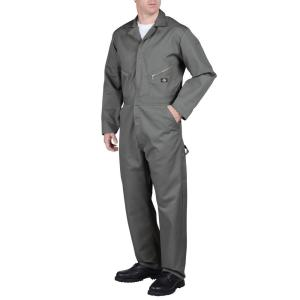 Dickies Deluxe Blended Men's Small Gray Coveralls by Dickies