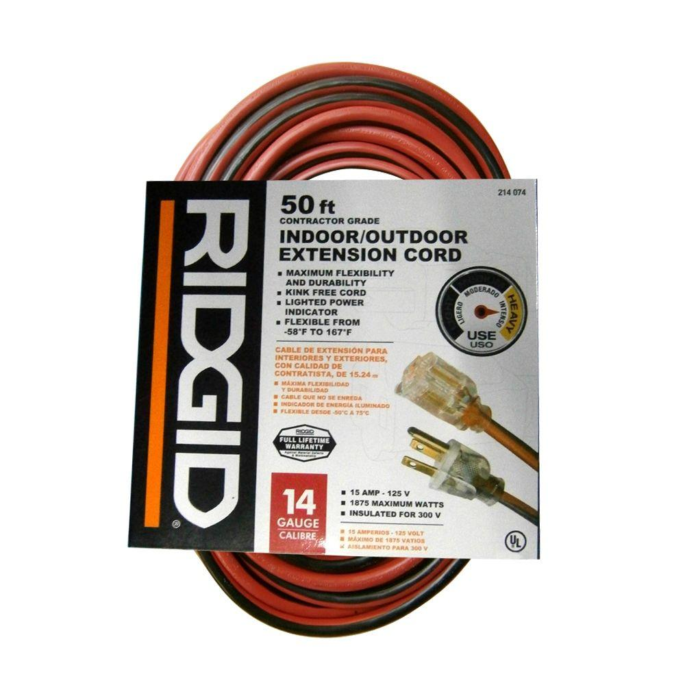 50 Ft 14 3 Heavy Duty Extension Cord