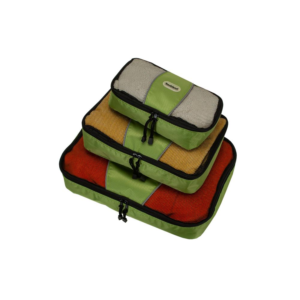 Rockland Packing Cubes (Set of 3), Green