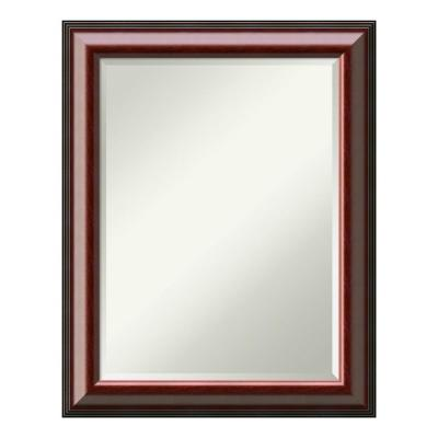 Cambridge Mahogany Wood 23 in. x 29 in. Traditional Bathroom Vanity Mirror