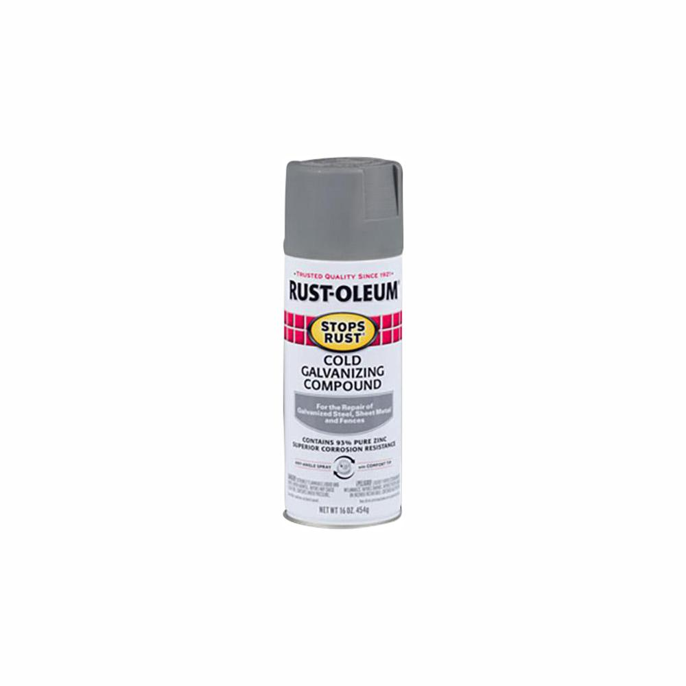 Rust-Oleum Stops Rust 16 oz  Flat Gray Cold Galvanizing Compound Spray  (6-Pack)