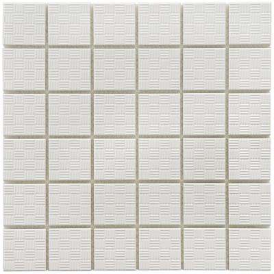Sicilian White 12 in. x 12 in. x 6 mm Porcelain Mosaic Tile