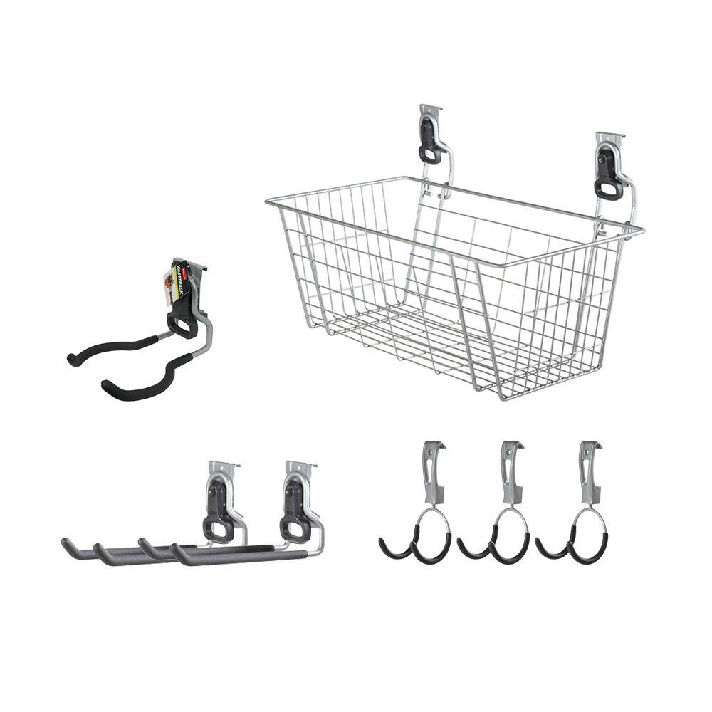 Rubbermaid FastTrack Garage Rail Accessory Starter Kit (7-Piece)