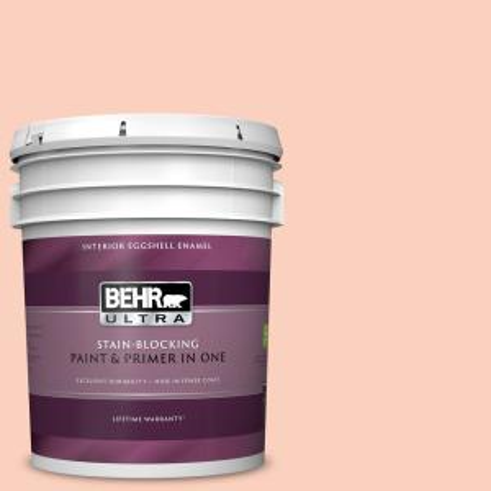 Behr Ultra 5 Gal P190 2 Fahrenheit Extra Durable Eggshell Enamel Interior Paint Primer 275005 The Home Depot