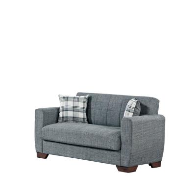 Barato 59 in. Gray Chenille 2-Seater Convertible Loveseat with Storage