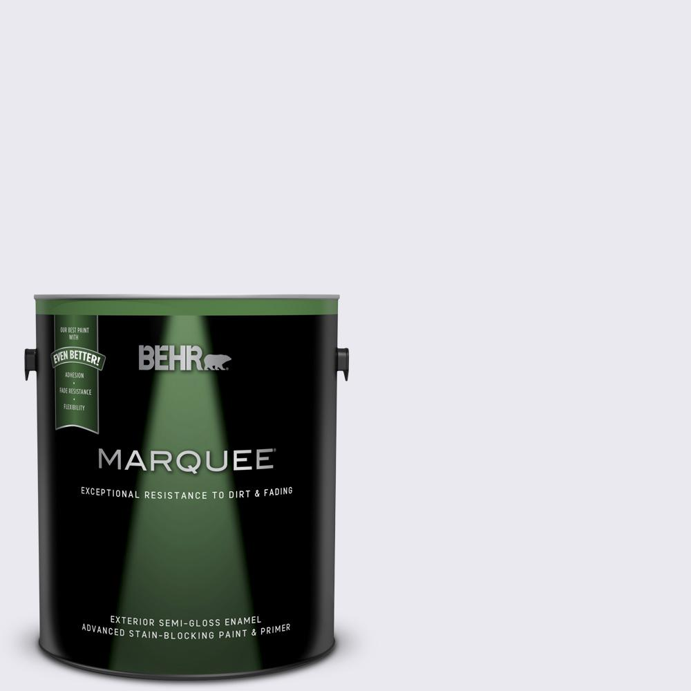 Behr Marquee 1 Gal 650e 1 Lace Cap Semi Gloss Enamel Exterior Paint And Primer In One 545001 The Home Depot