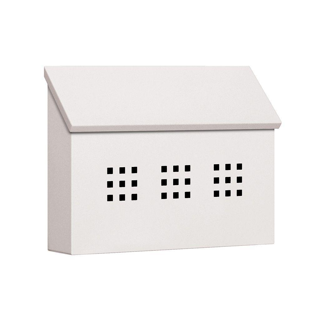 4600 Series White Decorative Horizontal Traditional Mailbox