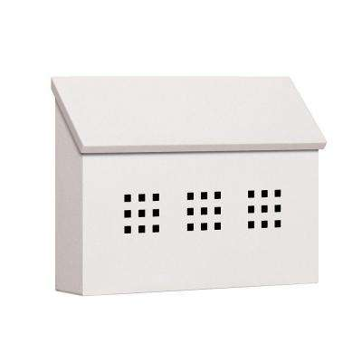 4600 Series White Decorative Horizontal Traditional Mailbox