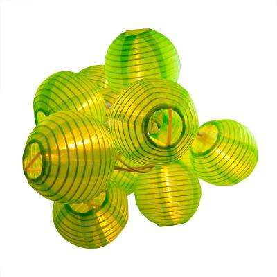 Nylon Lantern String Lights in Green