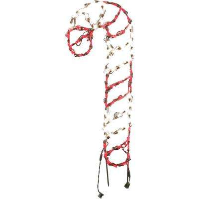 3 ft. 90-Light LED Red and White Candy Cane Novelty Light