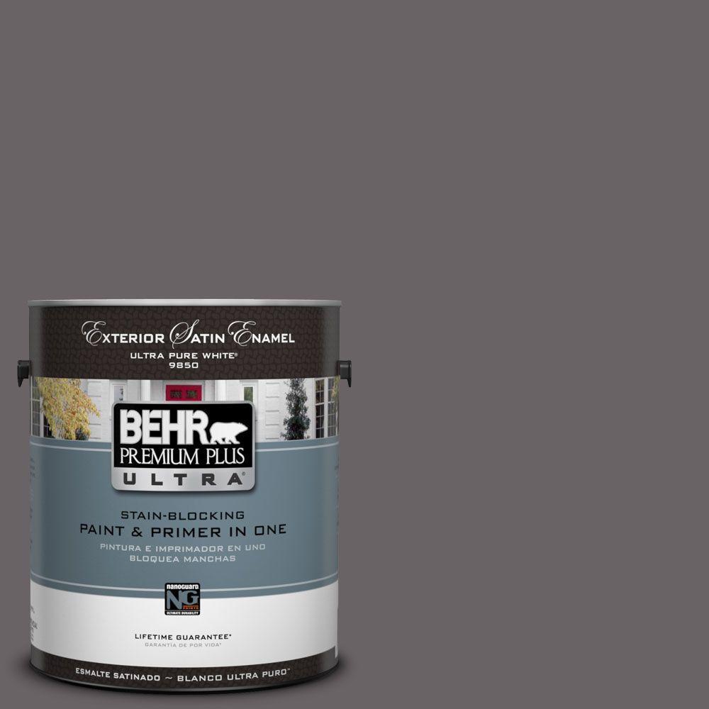 BEHR Premium Plus Ultra 1-Gal. #UL250-1 Arabian Veil Satin Enamel Exterior Paint