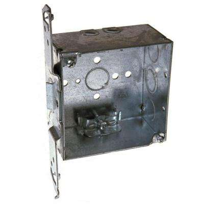 4 in. Square Welded Box, 2-1/8 Deep with NMSC Clamps and TS Bracket (25-Pack)
