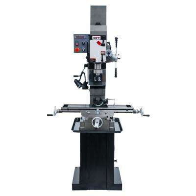 JMD-45VSPF 115-Volt/230-Volt Variable Speed Square Column Geared Head Mill/Drill Press with Power Downfeed