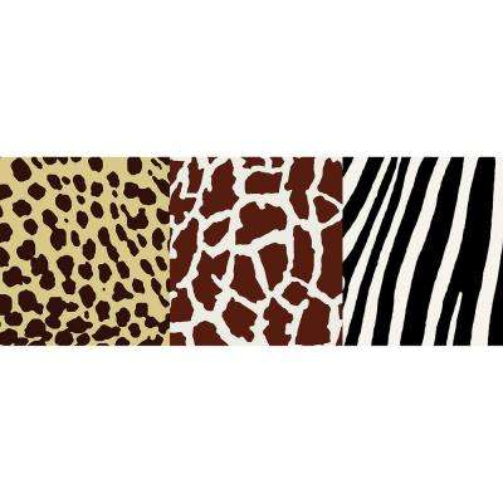Animal Skins Natural Wallpaper Border Sample