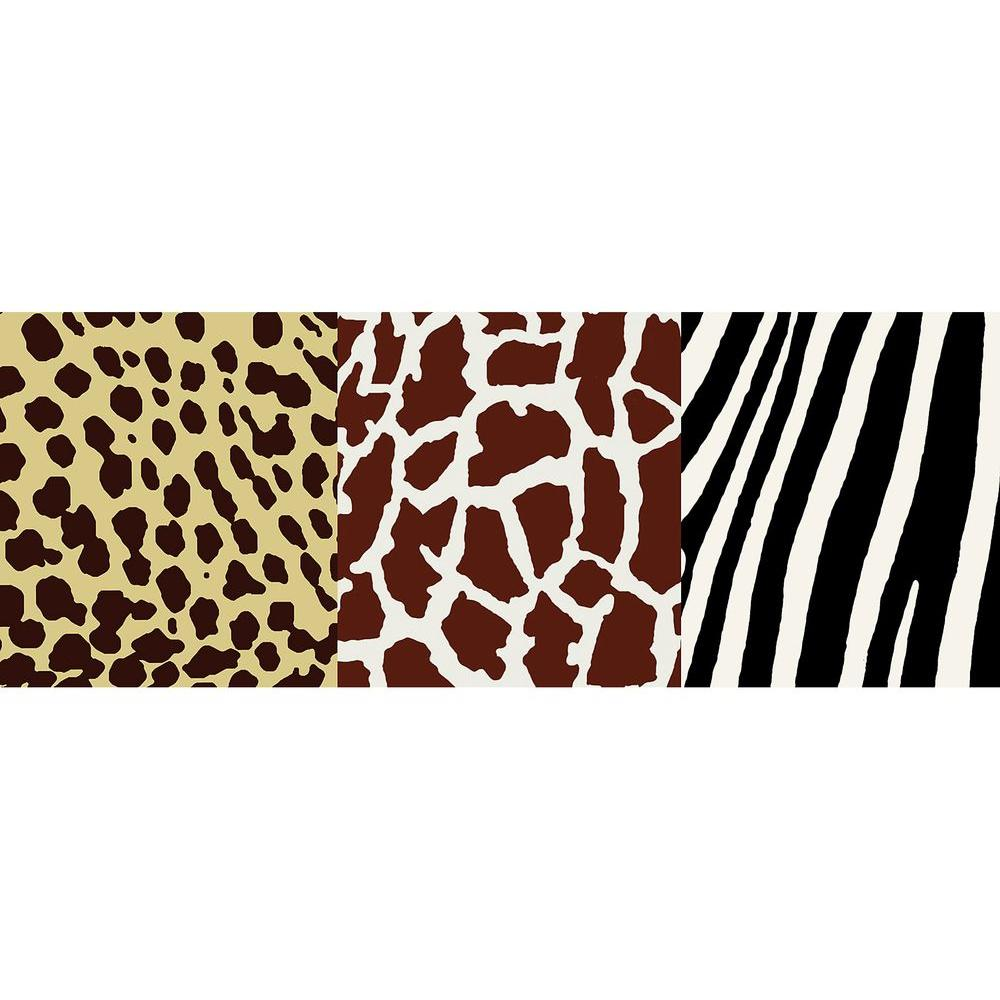 National Geographic Animal Skins Wallpaper Border, Dark