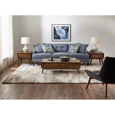 Stormy Gray 2 ft. x 8 ft. Abstract Runner Rug