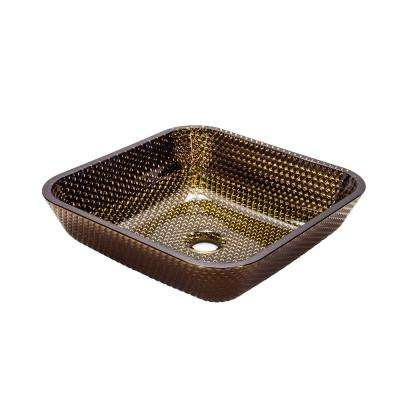 Cubix Vessel Sink in Cobalt Copper