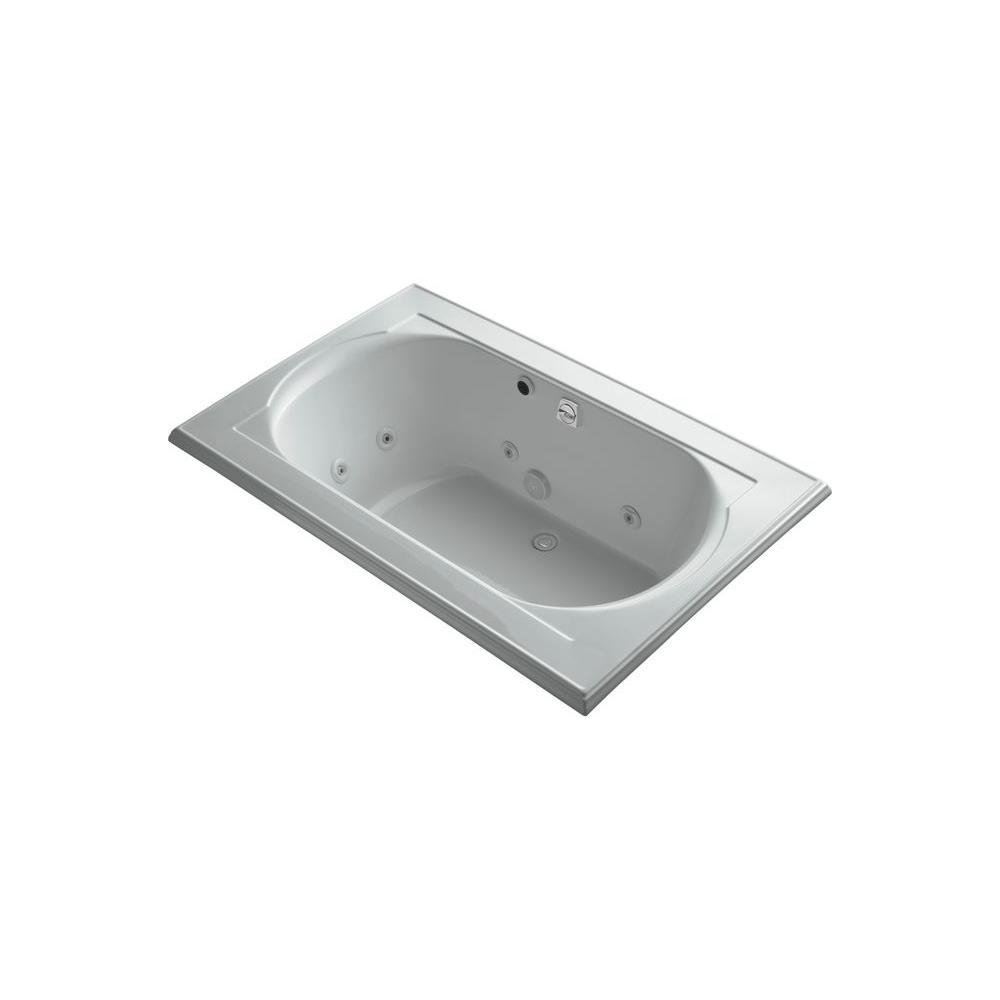 KOHLER Memoirs 5.5 ft. Whirlpool Tub in Ice Grey-DISCONTINUED