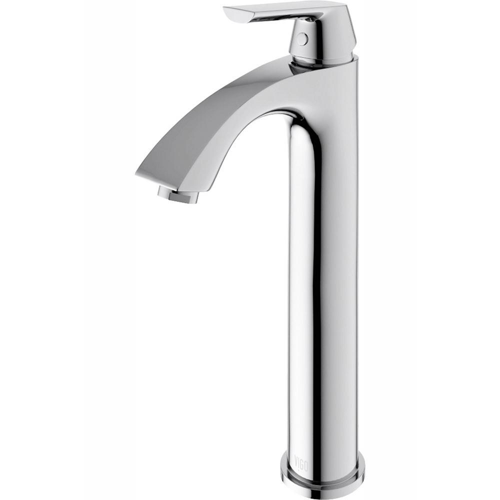 VIGO Single Hole 1-Handle Low-Arc Bathroom Faucet in Chrome
