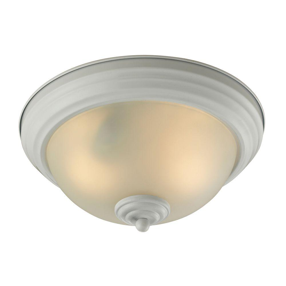 Titan Lighting Easton 2-Light White Ceiling Flush Mount