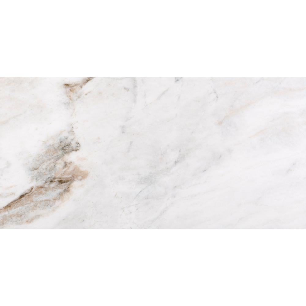 Kalta Fiore 12 in. x 24 in. Marble Floor and Wall