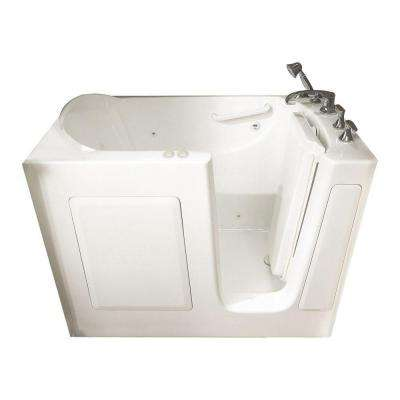 Gelcoat Standard Series 51 in. Walk-In Whirlpool with QuickDrain Bathtub in White