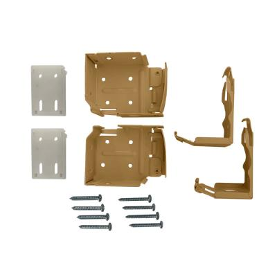 2-1/2 in. Cordless Faux Wood Side Mounting Bracket Set in Chestnut