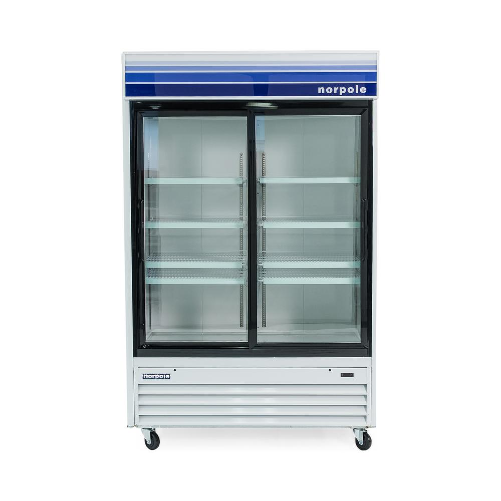 Norpole Glass Door 53 in. W 45 cu. ft. Commercial Glass Door ...
