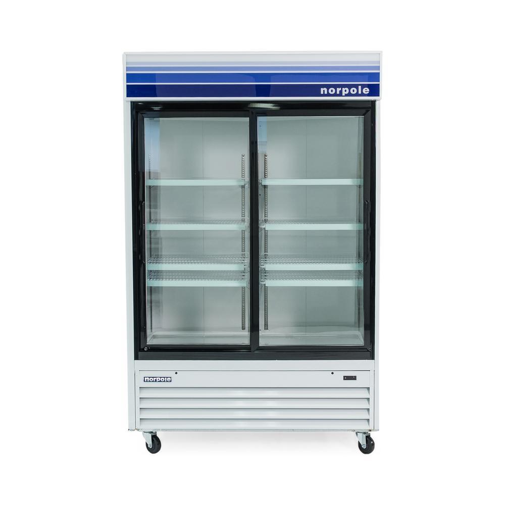 Norpole glass door 53 in w 45 cu ft commercial glass - Glass door fridge for home ...