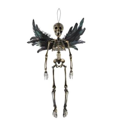 18.5 in Hanging Skeleton with Black Wings
