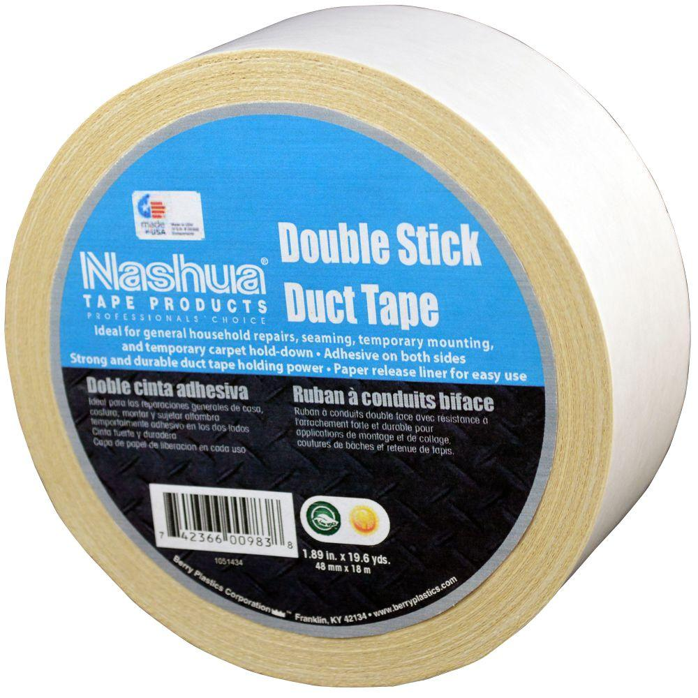 Nashua Tape 1.89 in. x 19.7 yds. 105C Double Stick Duct Tape