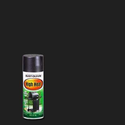12 oz. High Heat Satin Bar-B-Que Black Spray Paint (3-Pack)