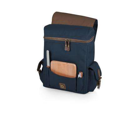 Moreno Navy 3-Bottle Wine & Cheese Tote