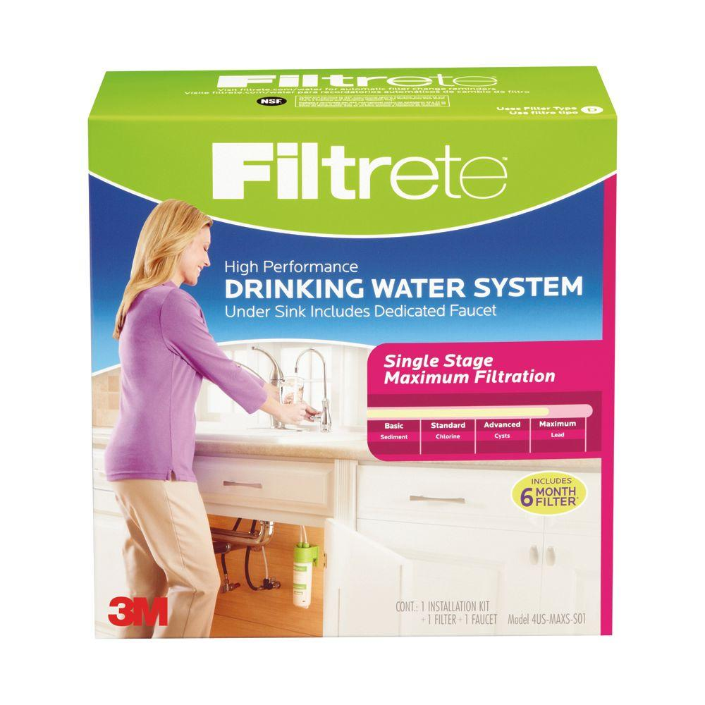 Filtrete Single Stage Maximum Filtration High Performance Drinking Water System with Faucet