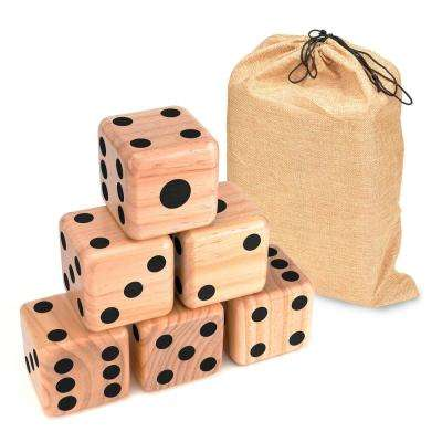Giant 3.5 in. Wood Yard Dice with Carry Bag