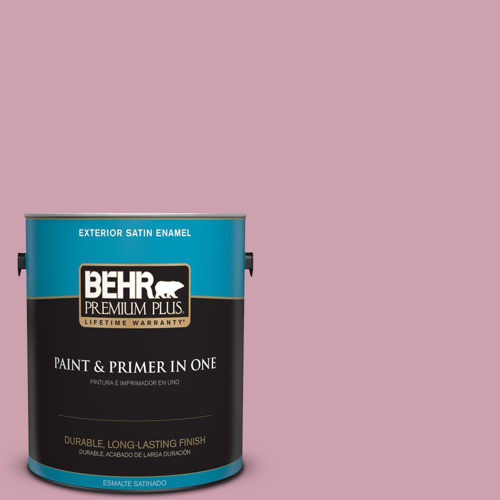 BEHR Premium Plus 1-gal. #100C-3 Birthday Candle Satin Enamel Exterior Paint