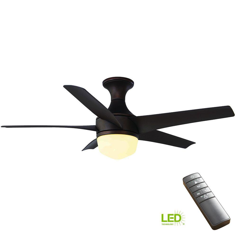 Clarkston 44 In Indoor Oil Rubbed Bronze Ceiling Fan With Light Kit White Low Profile 42 Wiring Diagram Model Led Mediterranean