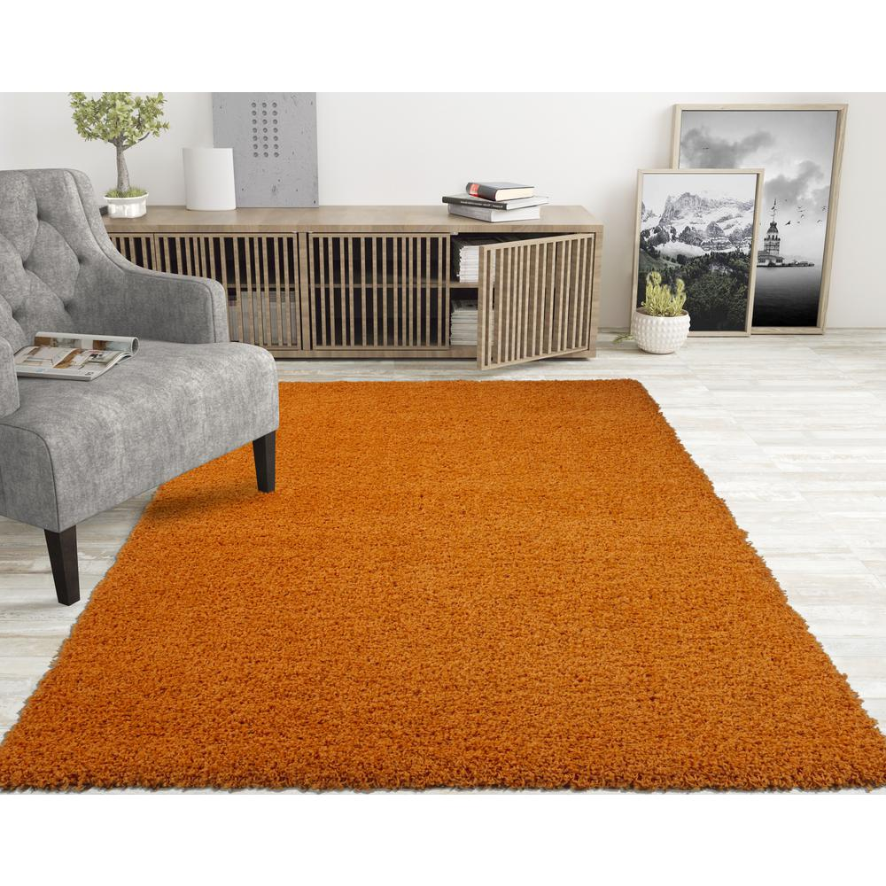 Casamode Lifestyle Shaggy Collection Orange 5 ft. x 7 ft. Shag Area Rug was $82.19 now $57.53 (30.0% off)