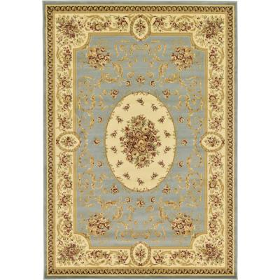 Versailles Phillipe Light Blue 7' 0 x 10' 0 Area Rug
