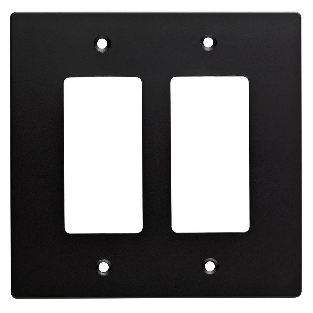 H&ton Bay Subway Tile Decorative Double Rocker Switch Plate Flat Black  sc 1 st  The Home Depot & Hampton Bay Subway Tile Decorative Double Rocker Switch Plate Flat ...
