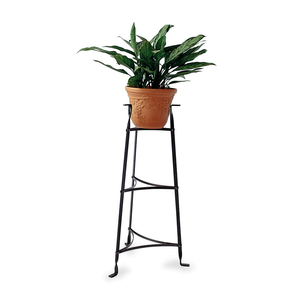 Enclume 3 tier plant stand in hammered steel ps3 hs the home depot - Steel pot plant stands ...