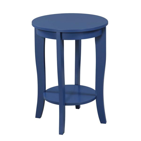 American Heritage Cobalt Blue Round End Table
