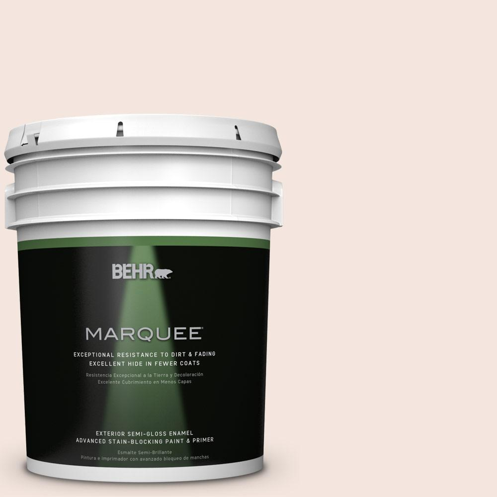 5-gal. #RD-W6 Soothing Pink Semi-Gloss Enamel Exterior Paint